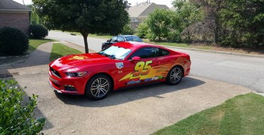 Memphis Dad Turns Mustang into Lightning McQueen