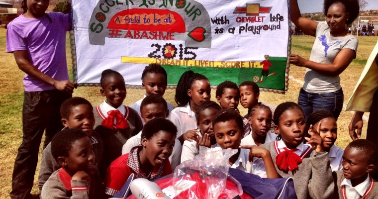 Chevrolet Ute Project Delivers Soccer Balls to Students in Pretoria