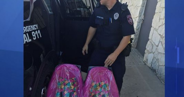 Rather Than Tickets, Texas Officers Give Stricken Family Car Seats