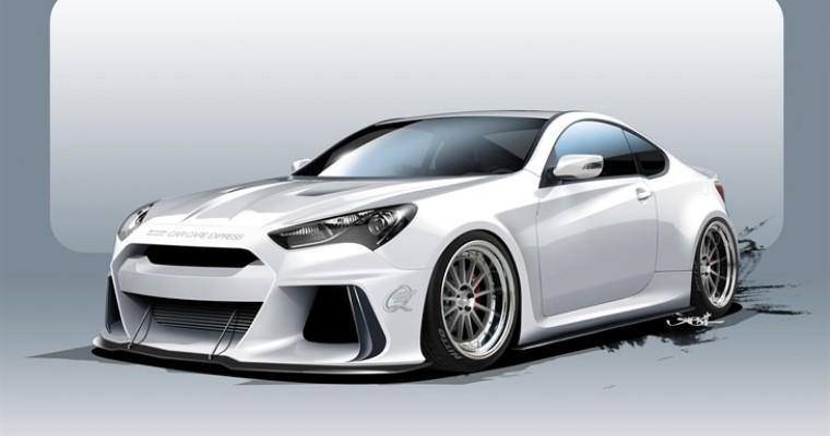 Racing-Inspired Solus Genesis Coupe Pits Hyundai Against Performance Brands at SEMA 2015