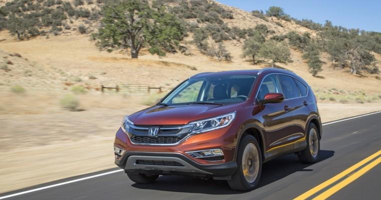 2016 Honda CR-V Earns 5-Star NHTSA Safety Rating