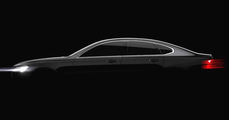 Volvo Teases S90 Sedan Ahead of Detroit Auto Show