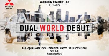 Mitsubishi Announces Dual World Debut Set for 2015 LA Auto Show