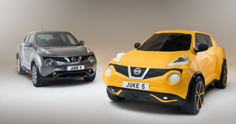 Nissan Creates Full-Size Origami JUKE for Crossover's 5th Birthday