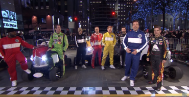NASCAR Takes on Jimmy Fallon In Relay Race