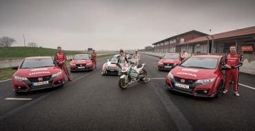 Honda Civic Type R Races MotoGP and Touring Car in 360-Degree Video