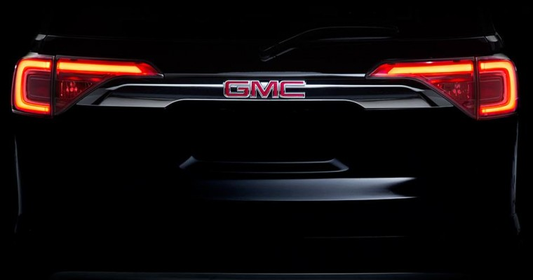 Behold, the Shapely Rear End of the 2017 GMC Acadia