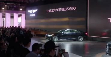 Genesis G90 Debut Takes Center Stage at Hyundai's NAIAS Presentation
