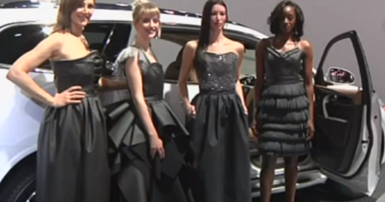 Detroit Auto Show Showcases Dresses Made from Material Used in Car Interiors