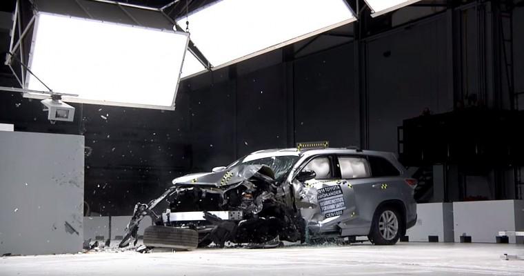 2016 Toyota Highlander Lands Top Safety Pick+ Designation