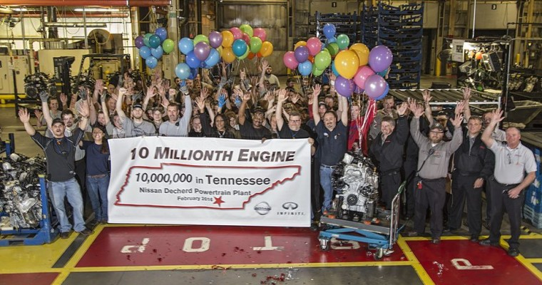 Nissan Plant Celebrates 10 Millionth Engine