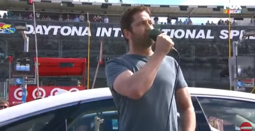 Gerard Butler Acts as Grand Marshal of Daytona 500