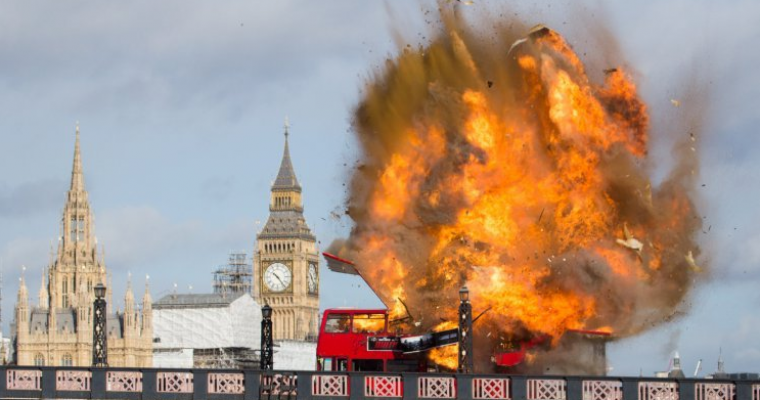 Bus Explosion for Jackie Chan Movie in London Causes Fear in Locals