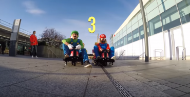 Real-Life Mario Kart Racers Terrorize Security in London Mall