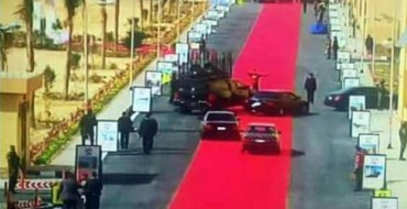 Egyptian President Rolls Out Red Carpet for His Own Motorcade; Egyptians Not Pleased