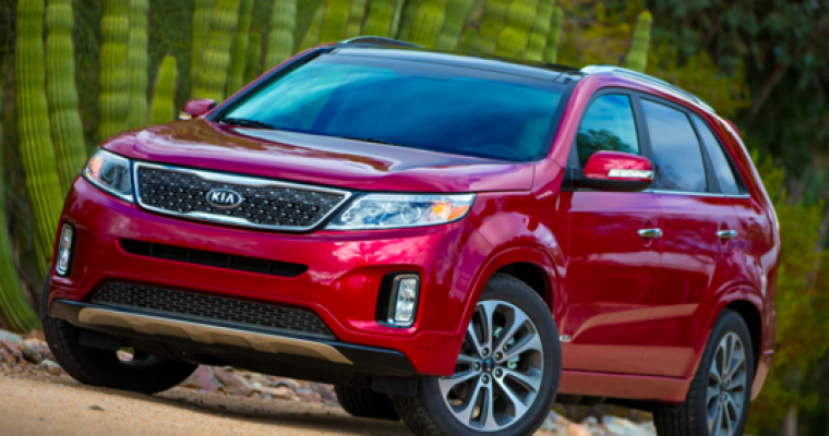 Kia Sorento Earns TrueCar Pre-Owned Value Award