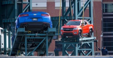 Detroit Tigers' Home Run Fountain Gets Chevy Camaro SS and Colorado for Opening Day