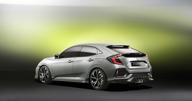 2016 Honda Civic Hatchback Prototype Coming to New York Auto Show