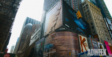 Toyota Builds Huge Climbing Wall in Middle of Times Square