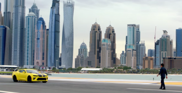 """Jason Bourne"" Stunt Driver Takes 2016 Chevy Camaro SS for a Hair-raising Ride on Dubai Runway"