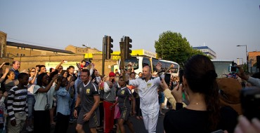 Nissan UK Employees Prepare for Torch Relay