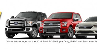 Ford Grabs Vincentric's Best Value Truck Brand Award