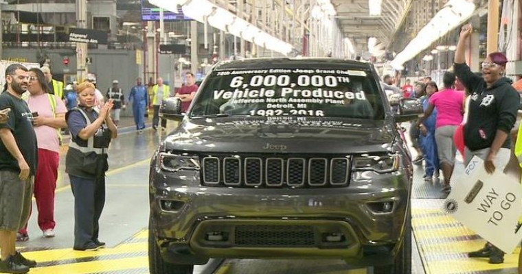 Fiat Chrysler's Jefferson North Plant Hits 6 Millionth Vehicle Milestone