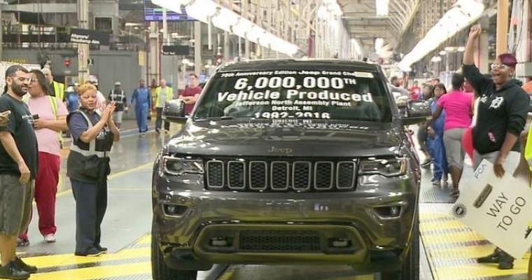 Fiat Chrysler's Jefferson North Plant Hits 6 Millionth Vehicle Milestone