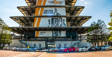 All Nine Former Camaro Pace Cars On Display at Brickyard for Indy 500