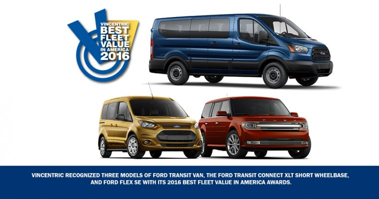 Ford Pulls Down Seven Vincentric Best Fleet Value in America Awards