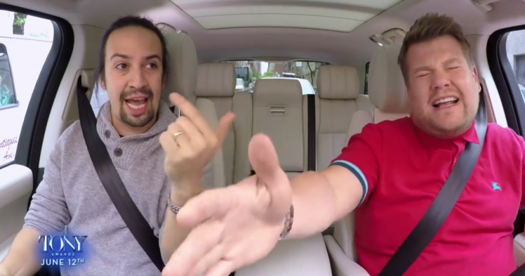 Carpool Karaoke Gives Us More Lin-Manuel Miranda On Tony Night