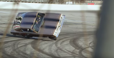 Jay Leno Crashes in Iconic Hemi Under Glass Plymouth Barracuda