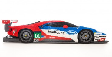 Just in Time for Ford's Return to Le Mans, A Huge LEGO Ford GT Race Car Appears