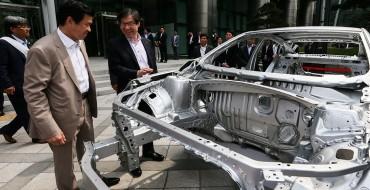 GM Korea Displays New Malibu at POSCO Seoul Center