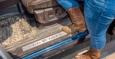 Ford's Fancy Super Duty Truck Trims Get Vinyl Flooring for 2017