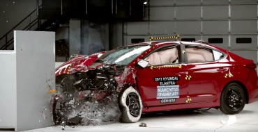 [VIDEO] IIHS Reveals Crash Footage & Safety Rating for 2017 Hyundai Elantra