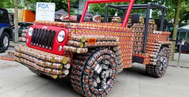 Fiat Chrysler Foundation Creates Second Life-Sized Jeep Wrangler from Cans