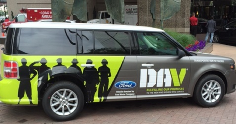 Ford Continues Support of DAV Transportation Network with Donation of Eight Flex SUVs