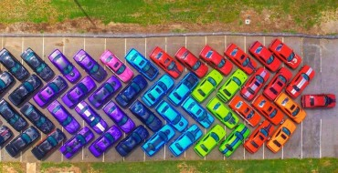 Georgian Car Club Creates the Rainbow with 76 Dodge Challengers