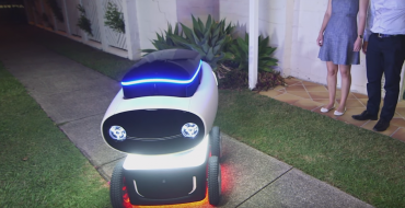 Dominos Develops Smiling, Self-Driving Delivery Bot