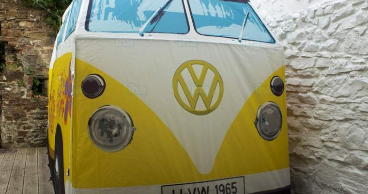 We Would Totally Go Camping in a VW Bus Tent