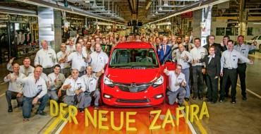 First Production Opel Zafira Rolls Off the Line at Rüsselsheim Plant