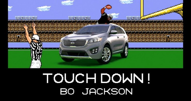 "Bo Jackson Remains Unstoppable in Clever Kia Sorento ""Tecmo Bowl"" Ad"