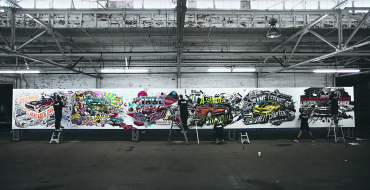 Chevy Celebrates Camaro's 50th Anniversary by Painting Commemorative Mural [VIDEO]