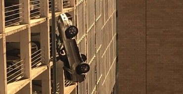Man Drives Toyota Off the Roof of a Parking Garage, Lives to Tell the Tale