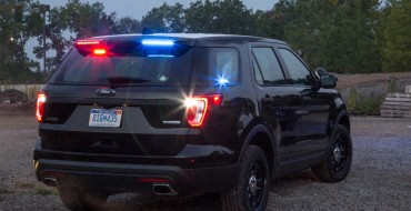 Ford Adds Rear Spoiler Traffic Warning Lights for 2017 Police Interceptor Utility