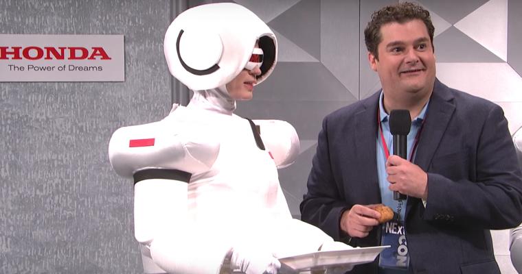 """Saturday Night Live"" Parodies Honda ASIMO in Weird Skit [VIDEO]"
