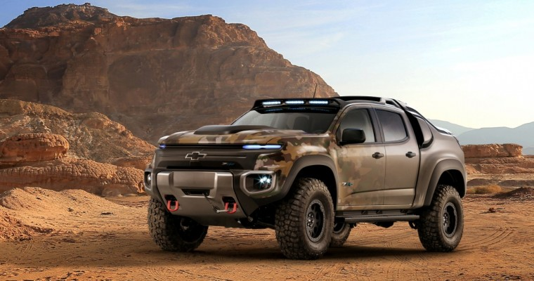 [PHOTOS] The US Army Chevrolet Colorado ZH2 Is American Military Might, Fueled by Hydrogen