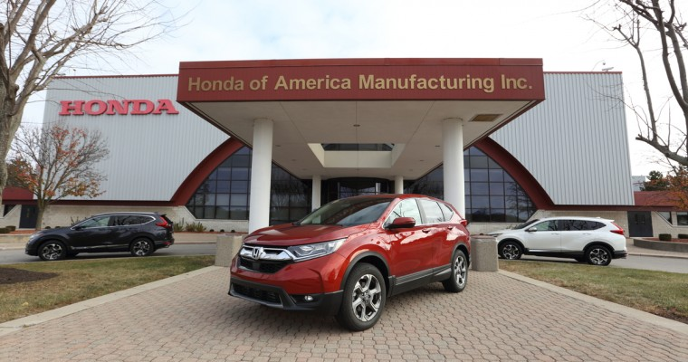 Fifth-Gen 2017 Honda CR-V Begins Production in Ohio