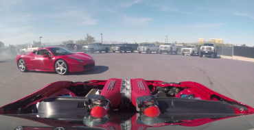 Ferrari-Powered Toyota 86 Does Donuts Around Ferrari 458